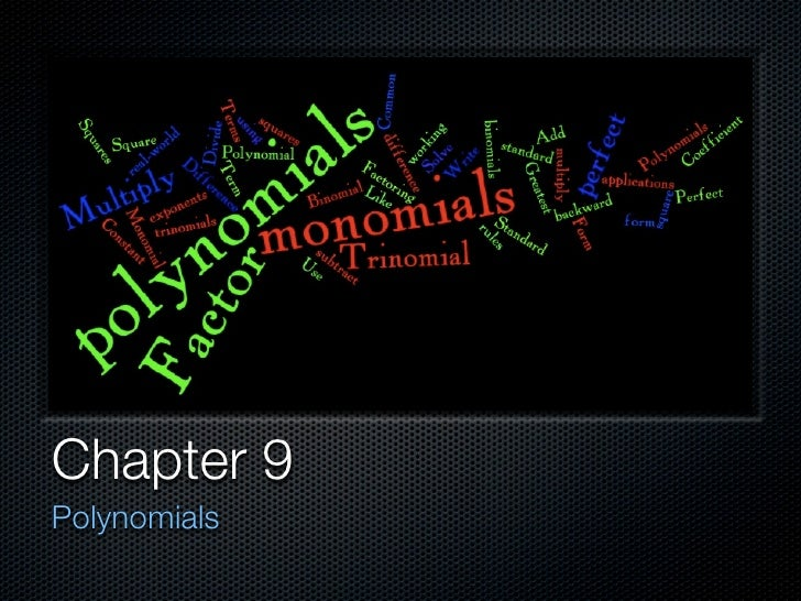 Chapter 9 Polynomials