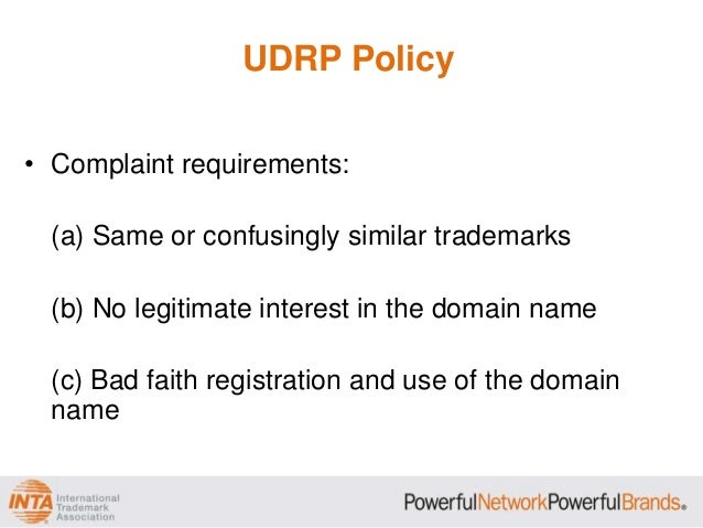 uniform domain name dispute resolution policy essay The udrp process timeline filing a complaint  to see the process in flowchart form, see the wipo guide to the uniform dispute resolution policy, topics b  including a copy of the.