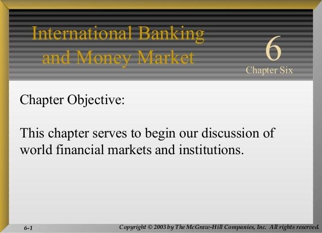 Int bank and money mrkt