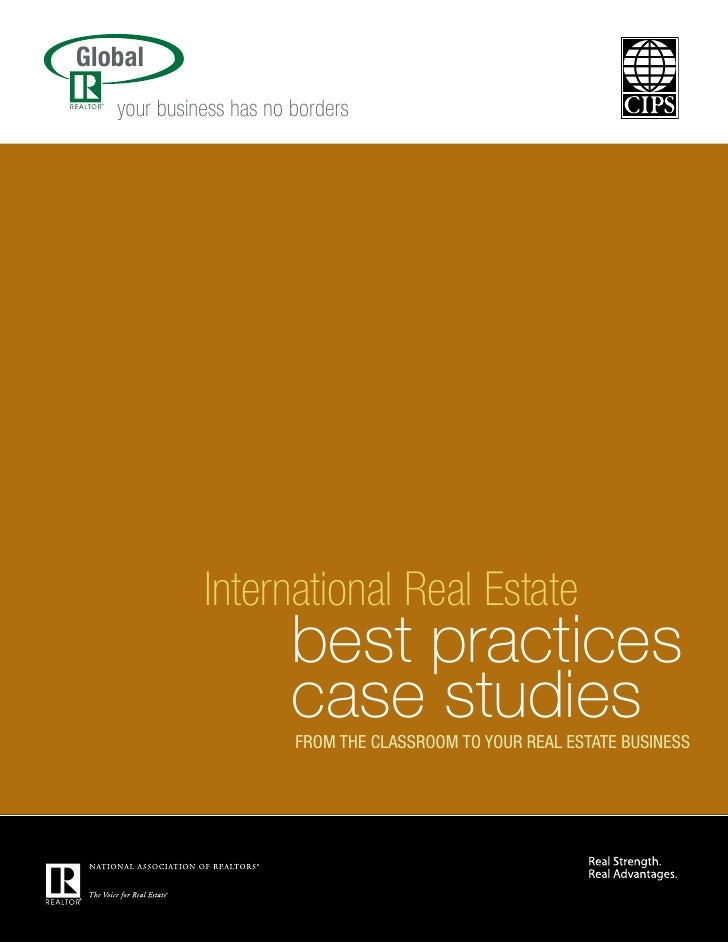Global    your business has no borders.                  International Real Estate                         best practices ...