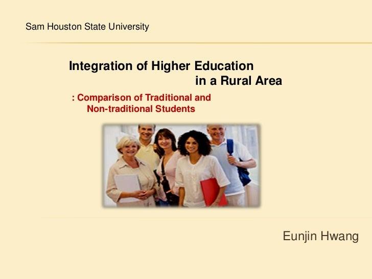 Integrationof higher education