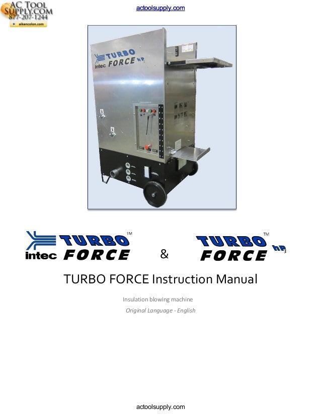 Intec Turbo Force HP3 Attic Insulation Machine