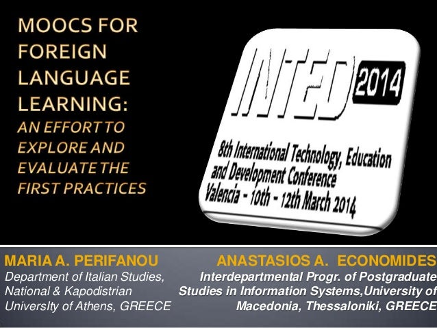 MOOCS FOR FOREIGN LANGUAGE LEARNING:
