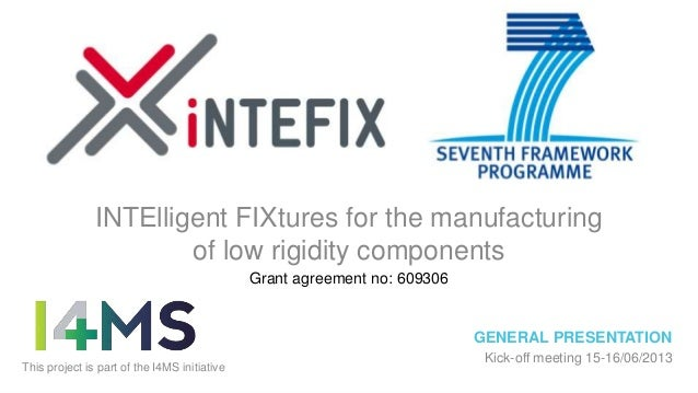 INTElligent FIXtures for the manufacturing of low rigidity components Grant agreement no: 609306  GENERAL PRESENTATION Thi...