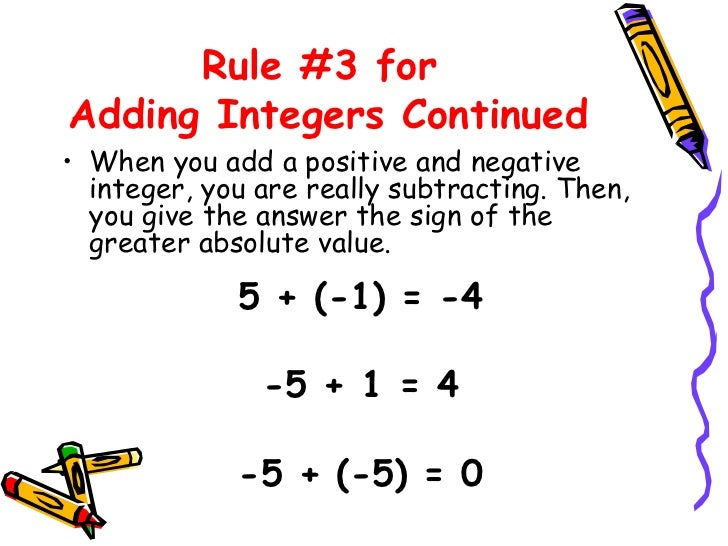 Worksheets Adding Integers Rules adding and subtracting integers rules integer integers