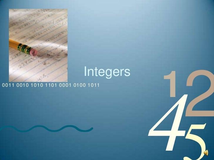 Integers<br />