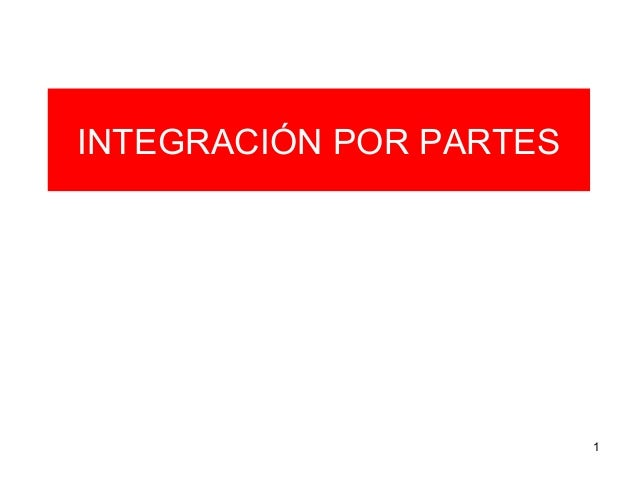 Integración por parte