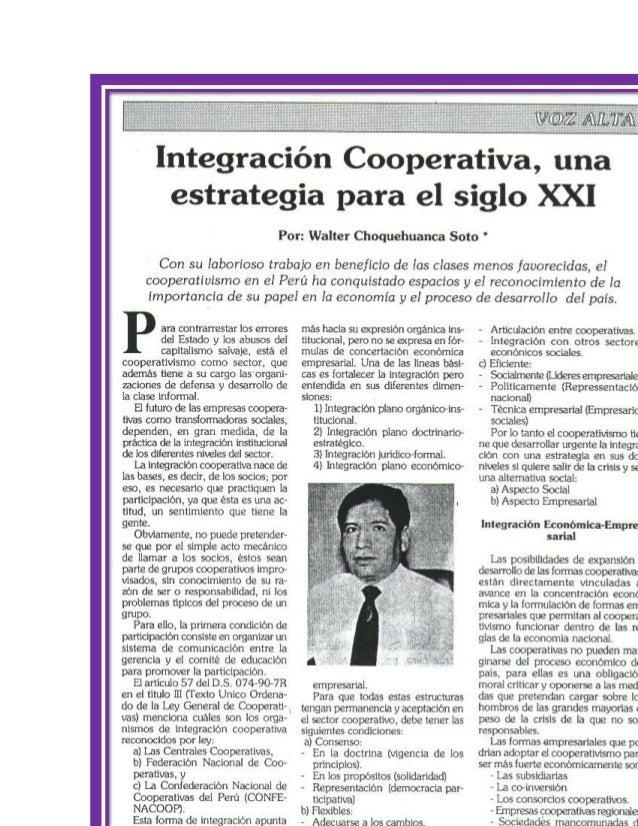 INTEGRACION COOPERATIVA PERU