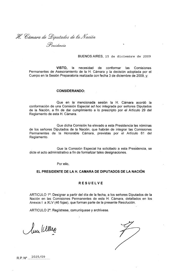 Integración de las Comisiones