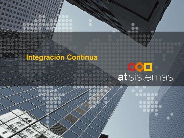 Integración Continua<br />