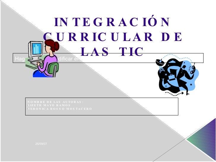 Integracion Curricular De Las Tic