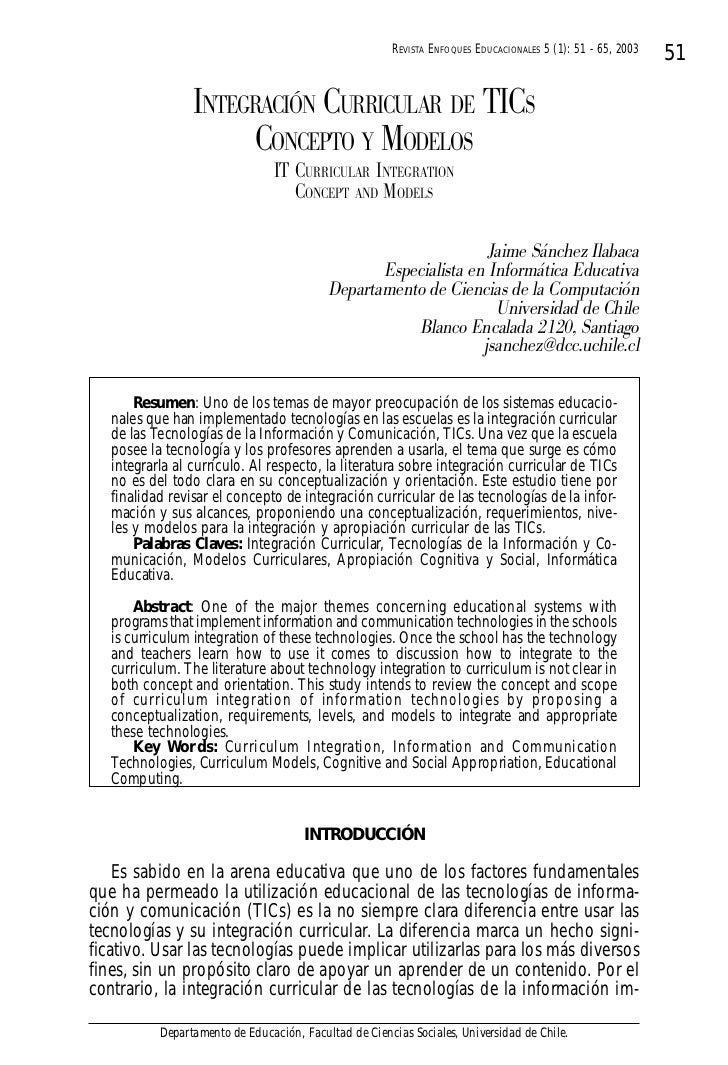 REVISTA ENFOQUES EDUCACIONALES 5 (1): 51 - 65, 2003                                                                       ...