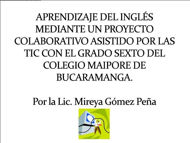 Integracion De  Las Tic En  Proyectos Colaborativos[1]