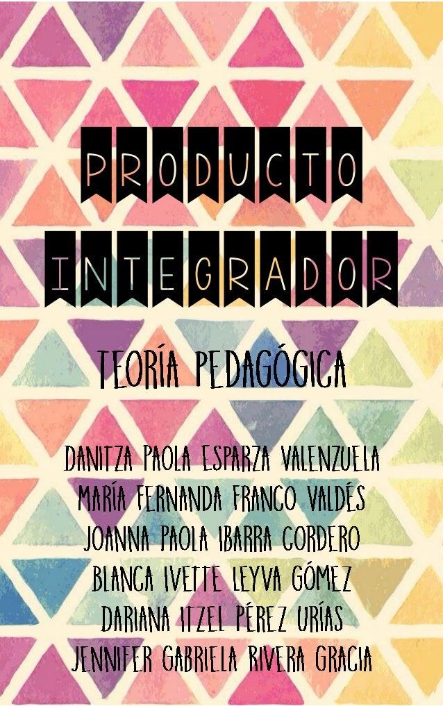 PRODUCTO INTEGRADOR