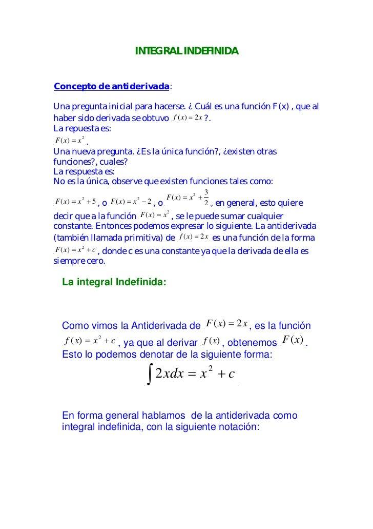 Integral indefinida for Definicion de gastronomia pdf