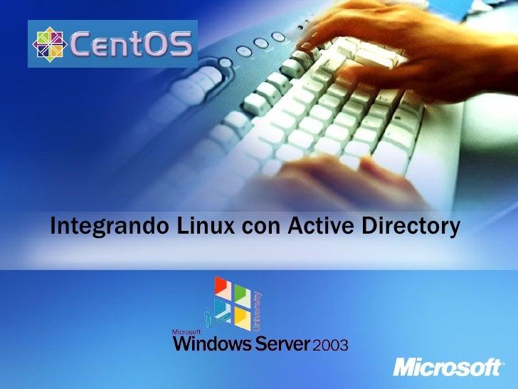 Integrando Centos4.4 Con Active Directory