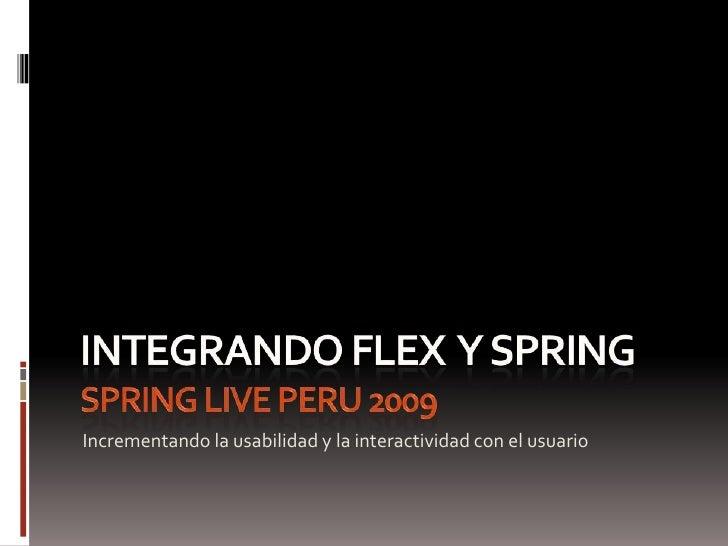 Integrando Flex  Y Spring