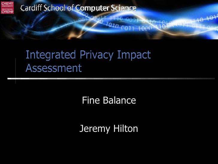 Fine Balance Jeremy Hilton
