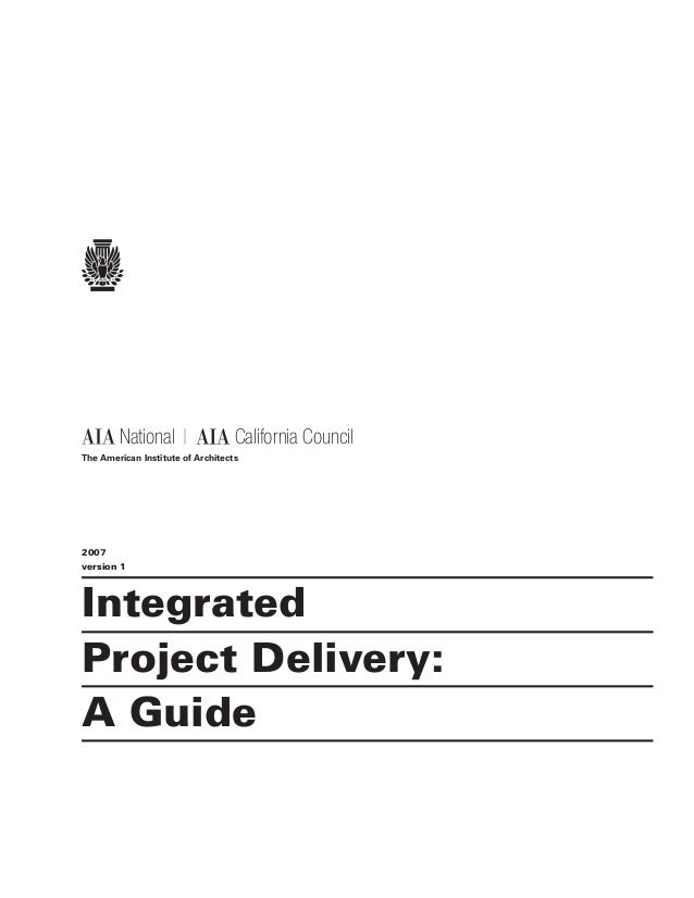 Integrated project-delivery