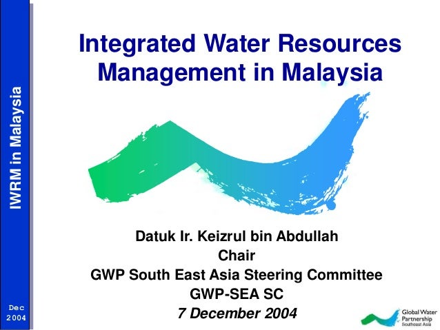 water resources in malaysia He said this was also crucial because technology would be able to simulate a bad situation caused by poor water management and work on.