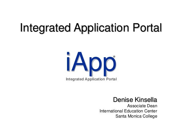 Integrated application portal