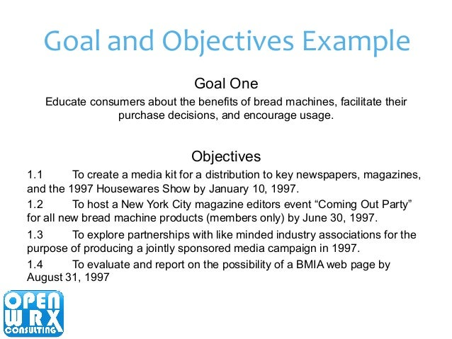 Examples Of Goal Statements  Job Objectives And Goals Examples