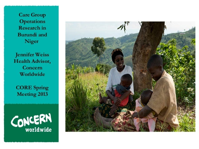 Care Group Operations Research in Burundi and Niger_Jennifer Weiss_4.23.13
