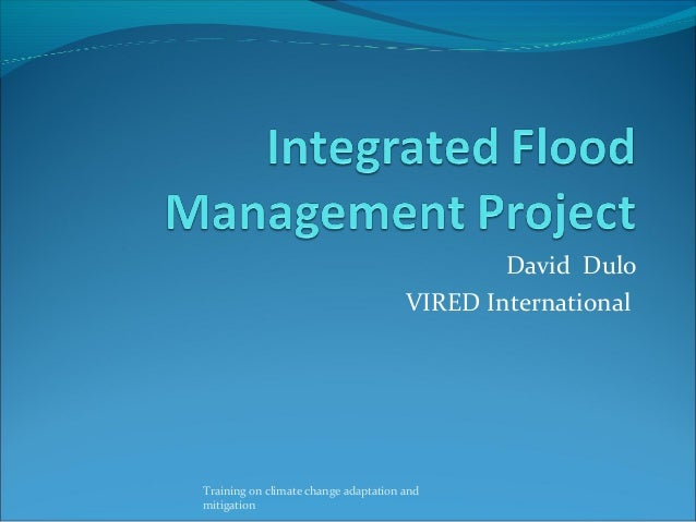 David Dulo VIRED International Training on climate change adaptation and mitigation