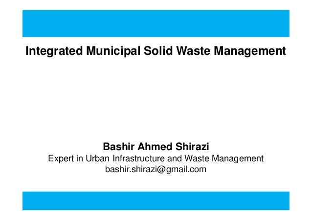 phd. thesis on municipal solid waste management
