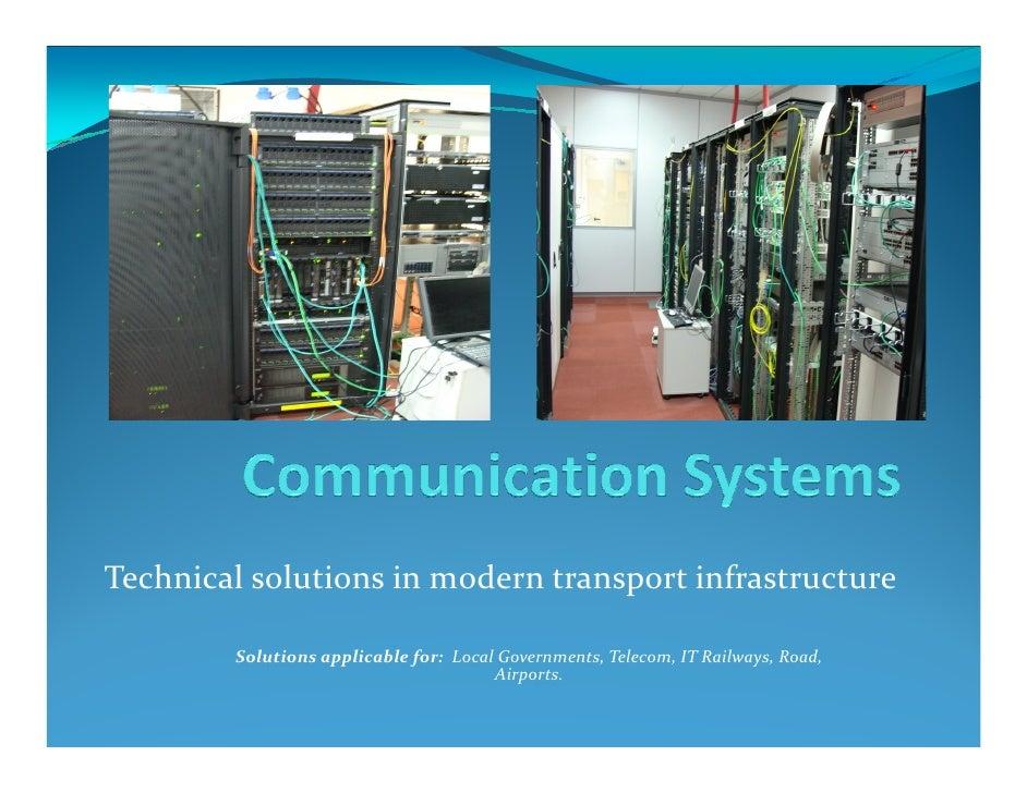 Integrated Solution For Modern Transport Infrastructure
