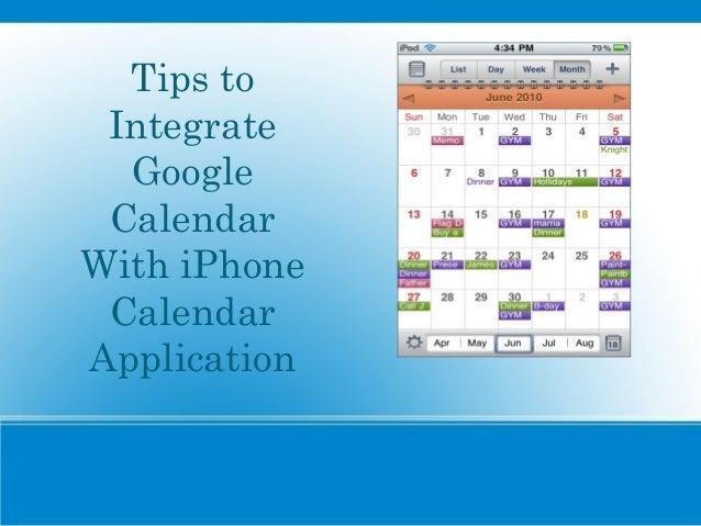 Tips to Integrate Google Calendar With iPhone Calendar Application