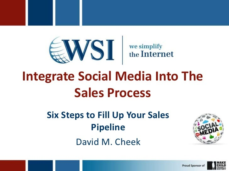 Integrate Social Media Into The         Sales Process    Six Steps to Fill Up Your Sales               Pipeline           ...