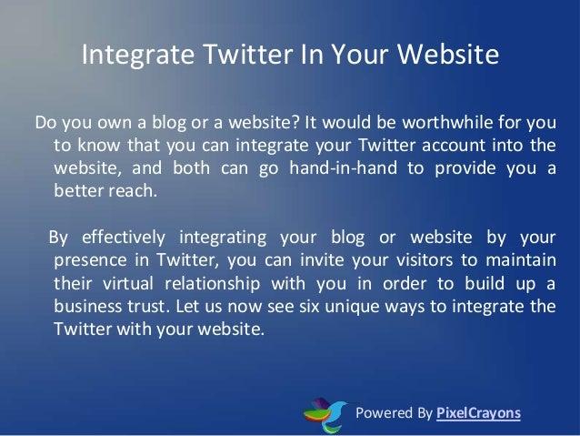 Integrate twitter in your website