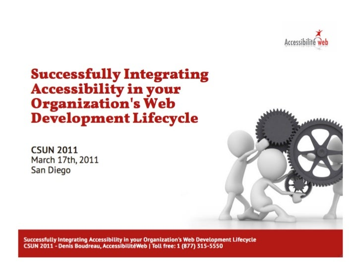 Successfully Integrating Accessibility in your Organization's Web Development Lifecycle