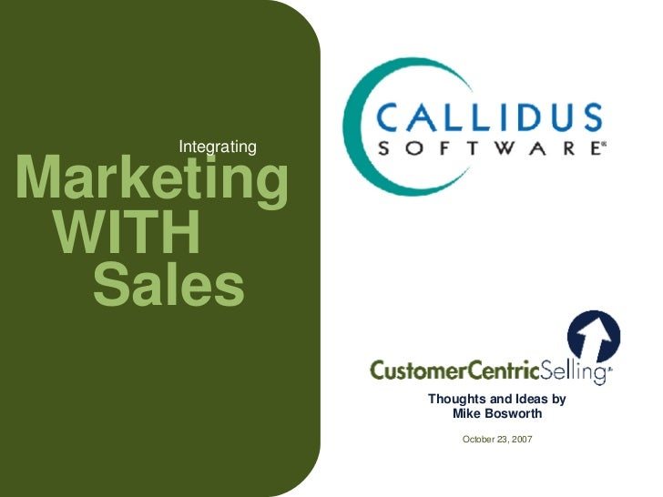 Integrating Marketing With Sales