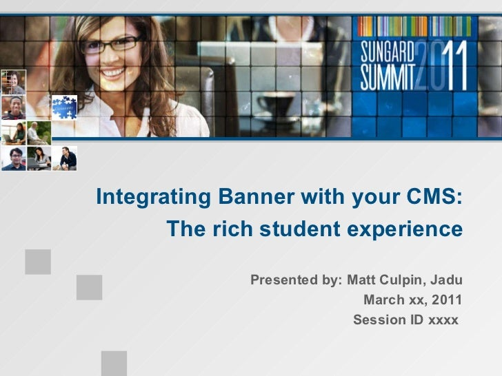 Integrating banner with_cms