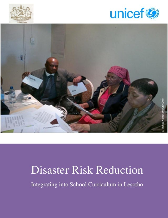Integrating disaster risk reduction into curriculum in Lesotho by munas kalden