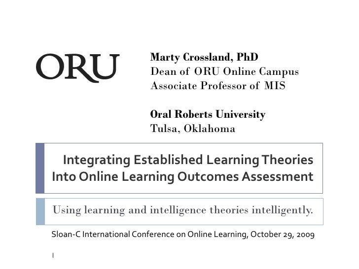 Integrating Established Learning Theories Into Online Programs Learning Outcomes Assessment