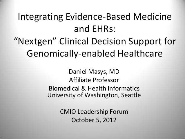 Integrating evidence based medicine and em rs