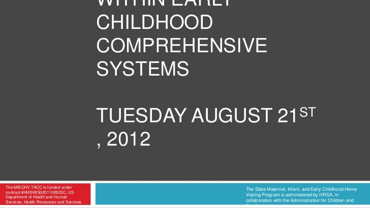WITHIN EARLY                                          CHILDHOOD                                          COMPREHENSIVE    ...