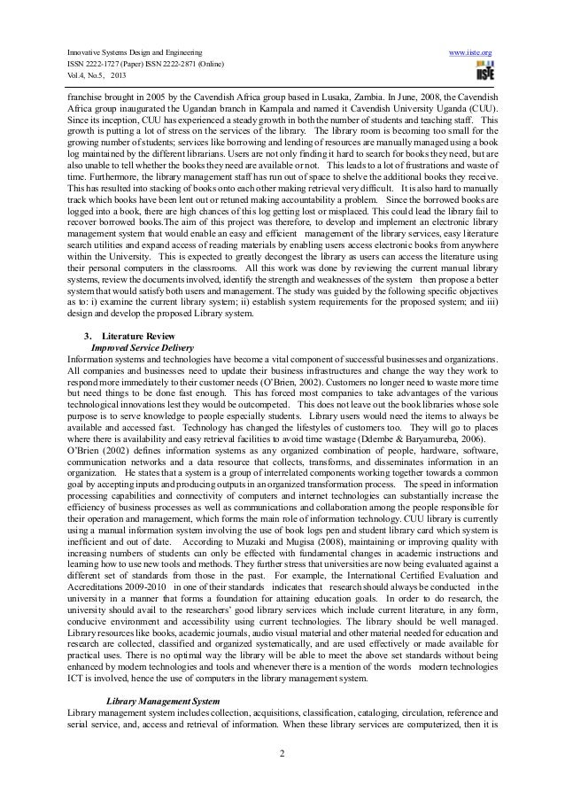 computerized library system 2 essay An efficient computerized library management system will enhance the  a good  system should enable librarian to manage effective way to  2 shares   analytics education email emis emis online exams extended essay.