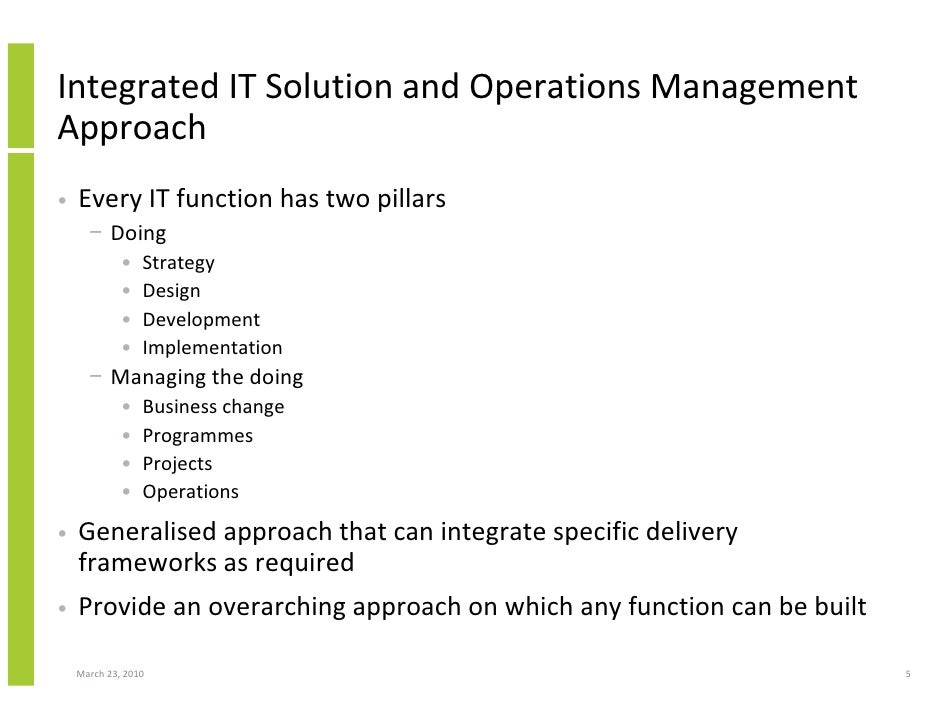 Integration and Generic Approach to human services?