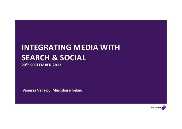 INTEGRATING MEDIA WITH SEARCH & SOCIAL 20TH SEPTEMBER 2012    Vanessa Vallejo,  Mindshare ...