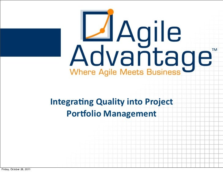 Integrating Quality into Project Portfolio Management
