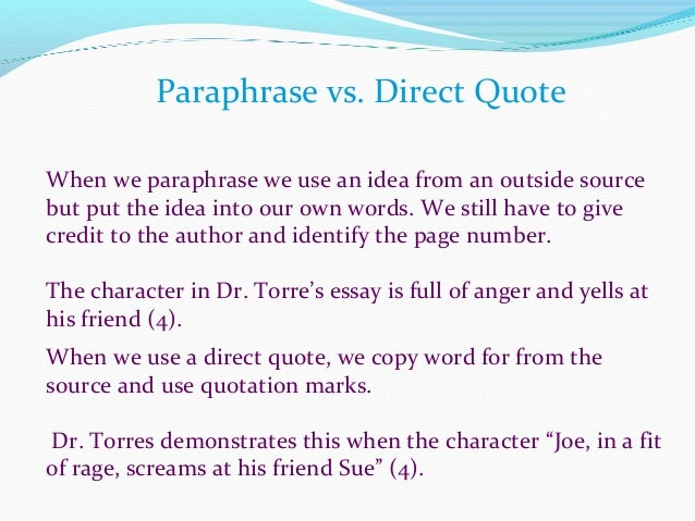 sourcing a quote in an essay