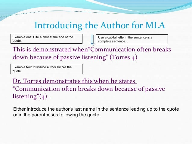 mla format quotes from an essay Mla style provides guidelines for citing both small and large passages of plays in the body of your text in addition, mla requires you to note any plays you reference on a separate works.