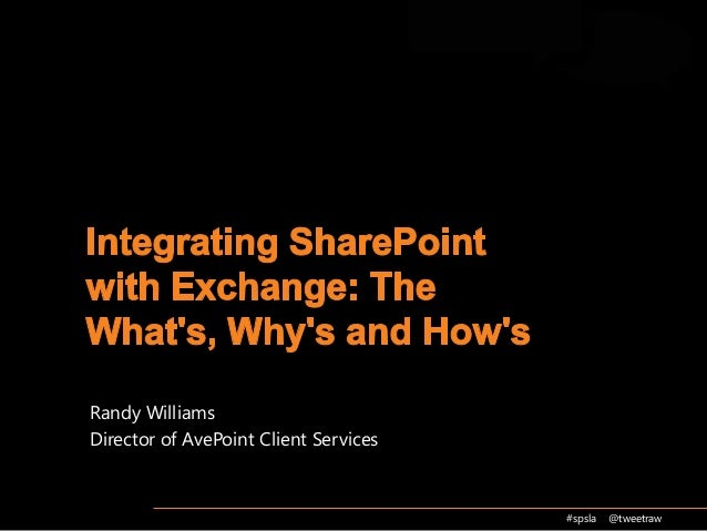 Integrating SharePoint with Exchange-2013