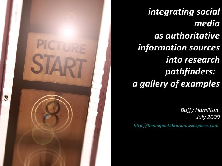 Integrating Social Media into Research Pathfinders:  A Gallery of Examples