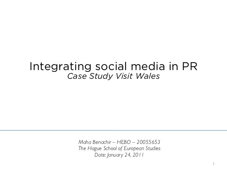Integrating social media in PR (Case study Wales)