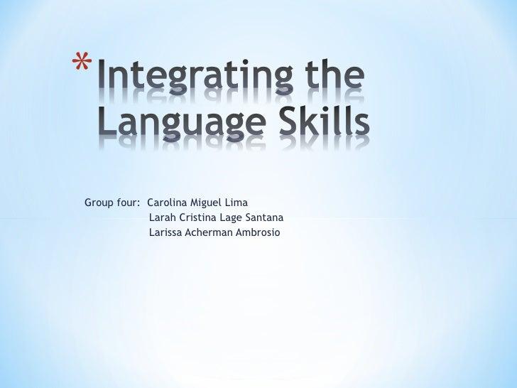 Integrating  the  language_ skills